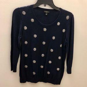 Talbots Beaded Sweater